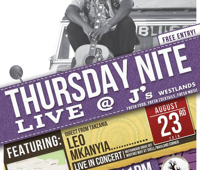 Thursday Nite Live with Leo Mkanyia; August 23