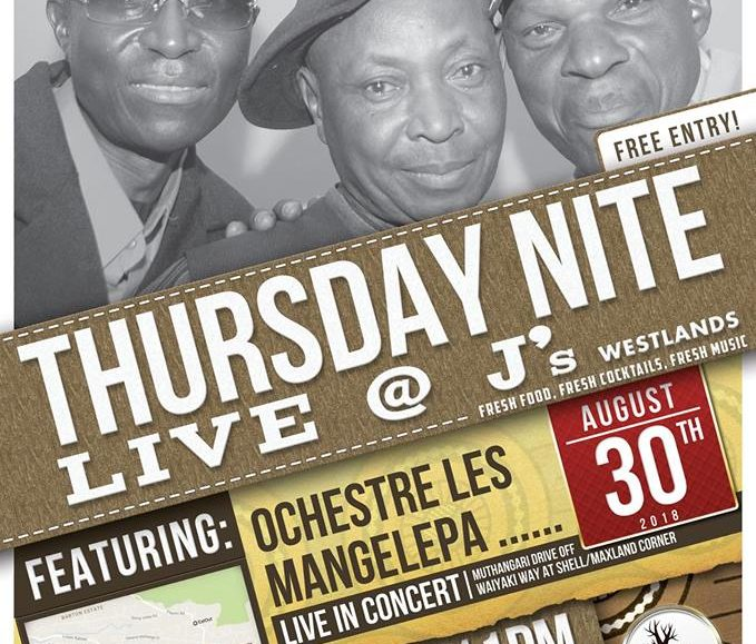 Thursday Nite Live with Orchestre Les Mangelepa; August 30