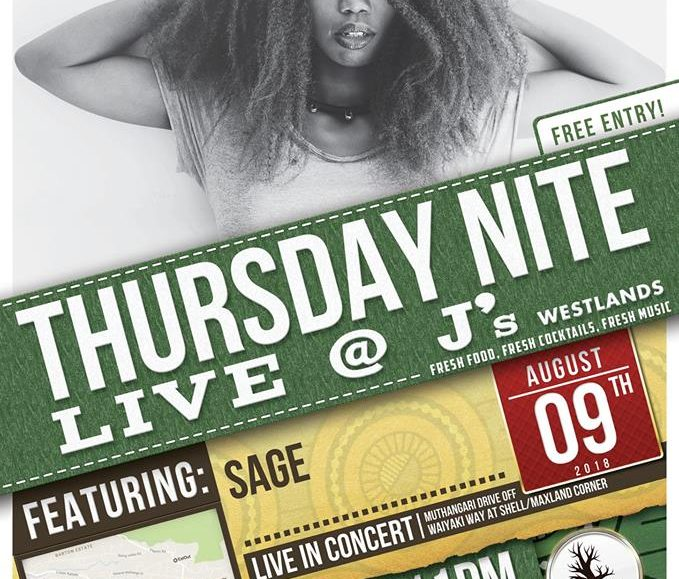Thursday Nite Live with SAGE; August 9