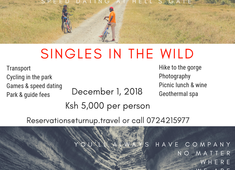 Singles in the Wild Day Trip with Turnup Travel; Dec 1 2018