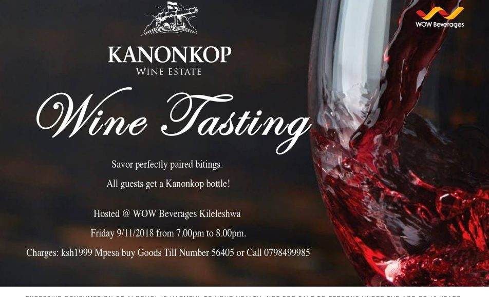 Kanonkop Wine tasting event; 9th November