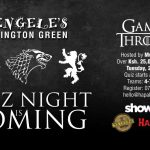 Game of Thrones Quiz Night at Kengeles Lavington; 26th March