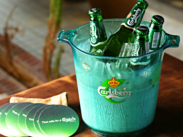 Carlsberg beer bucket
