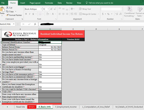 Arquivo retorno 2015 de imposto