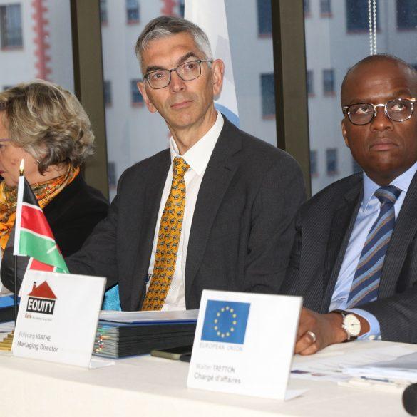 European Investment Bank Head of Financial Sector division Robert Shofield, Equity Bank (Kenya) Managing director Polycarp Igathe