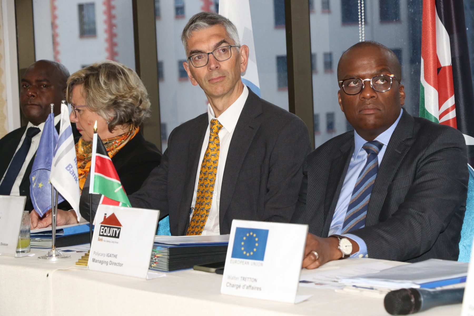 European Investment Bank Head of Financial Sector division Robert Shofield, Equity Bank (Kenya) Managing director Polycarp Igathe
