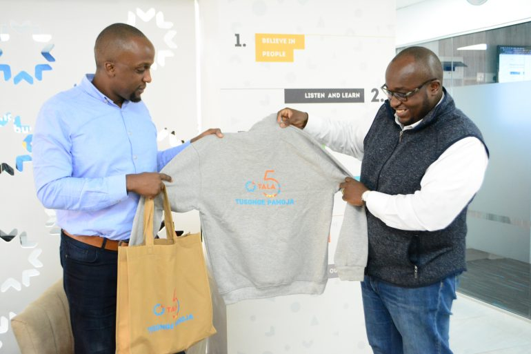 Tala Regional Country Growth Manager Ivan Mbowa and Tala's East African Marketing Director Kevin Kaburu